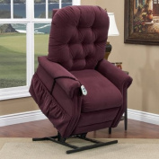 25 Series 3 Position Lift Chair Upholstery: Aaron - Berry, Moveable Infrared Heat