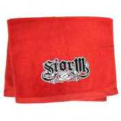 Storm Established Woven Towel- Red
