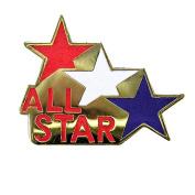 All Star Bowling Lapel Pin