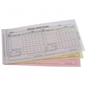 Bowling Team Score Book- Carbonless 3 Part Recap Sheets