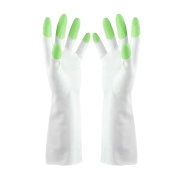 JYS 1 Pair Housework Dish Washing Up Cleaning Waterproof Stretchy Long Sleeve Gloves