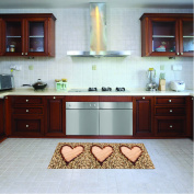Kitchen runner, machine washable rug, 52cm x 140 cm, anti-mite mat with non-skid (non-slip) rubber backing, hearts patterned rug, washable kitchen mat in polyester microfiber 100% Made in Italy