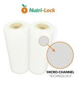 Nutri-Lock Vacuum Sealer Bags. 2 Pack 11x50 Commercial Grade Bag Rolls for FoodSaver, Sous Vide