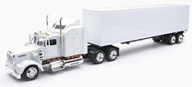 Kenworth W900 Toy Truck- All white by New Ray