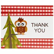Let's Go Camping Party Supplies - Thank-You Notes