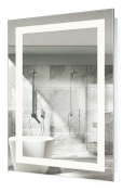 LED Bathroom Mirror 60cm X 90cm | Lighted Vanity Mirror Includes Defogger & Dimmer| Wall Mount Vertical or Horizontal