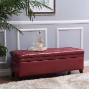 Laguna Living Room Furniture ~ Tufted Faux Leather Storage Ottoman
