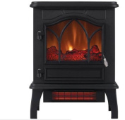 ChimneyFree Electric Infrared Quartz Stove Heater, 5,200 BTU, Black Metal