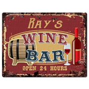 RAY'S WINE BAR Tin Chic Sign Rustic Vintage style Retro Kitchen Bar Pub Coffee Shop Decor 23cm x 30cm Metal Plate Sign Home Store man cave Decor Gift Ideas