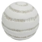 Sagebrook Home 11381 Turned Look Resin Ball, 7.6cm x 7.6cm x 9.5cm , White