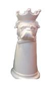 Sagebrook Home 12355-03 Ceramic Dog Umbrella Stand, 23cm x 23cm x 50cm , White