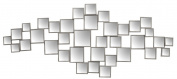 Sagebrook Home WM10398-02 Mirrored Wall Decor, 120cm x 1.5cm x 50cm , Silver
