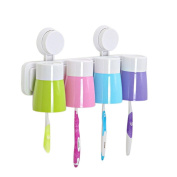 Besde Cute Creative Cartoon Lovely New Dsign Paste Tumbler 4pcs Set Toothbrush Holder Toothbrush Cup