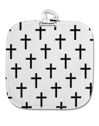 TooLoud Christian Crosses White Fabric Pot Holder Hot Pad All Over Print