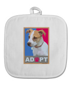 TooLoud Adopt Cute Puppy Poster White Fabric Pot Holder Hot Pad