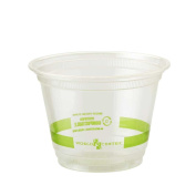 World Centric Ingeo Compostable Clear Squat Cold Cup, 270ml -- 1000 per case.