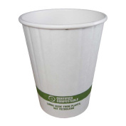 World Centric Compostable Double Wall Paper Hot Cup, 350ml -- 1000 per case.