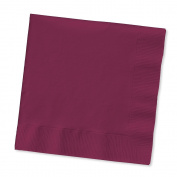 Creative Converting Touch of Colour 100 Count 2-Ply Paper Dinner Napkins, Burgundy