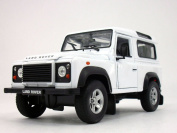 Land Rover Defender 1/24 Scale Diecast Metal Car Model - WHITE