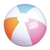 2 Dozen (24) 30cm Traditional Beach Balls / Classic 6 Panel Beachballs/POOL Party Favour Beach Ball