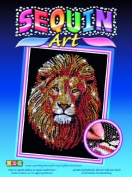Sequin Art Blue, Golden Lion, Sparkling Arts and Crafts Picture Kit by Sequin Art