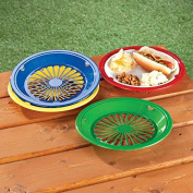 25cm Reusable Plastic Paper Plate Holders - Set of 12