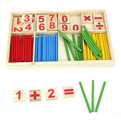 Transer® Toys for Kids - Wooden Mathematics Counting Toy Game- Children Baby Learning Education Gift