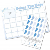 Guess The Date - Baby Shower Sweepstakes Game -