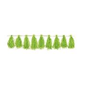 Amscan Paper Tassel Garland, 3m, Bright Kiwi Green