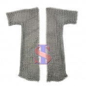 Souvenir India Mediaeval Chainmail Voiders Armour Mild Steel 10mm Butted Ring