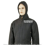 Mediaeval Gears Brand Black Small Mediaeval Gambeson Type 3 Padded Armour LARP SCA WMA Arming Jacket
