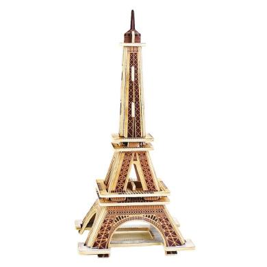 Baidecor 3D Wooden Puzzle Eiffel Tower Woodcraft Jigsaw Model Kits Toy
