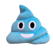Rukiwa Blue Emoji Smiely Poop Pillow Plush Cushions Home Decor Kids Gift Stuffed Poop Doll Keychain