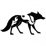 Wolf Attack Mode - Animal Decal [12cm Black] Vinyl Sticker for Car, Ipad, Laptop, Helmet