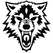 Wolf Face Scream - Animal Decal [12cm Black] Vinyl Sticker for Car, Ipad, Laptop, Helmet
