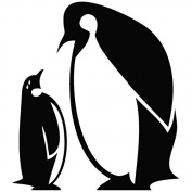 Penguin What's Up - Funny Decal [12cm Black] Vinyl Sticker for Car, Ipad, Laptop, Helmet