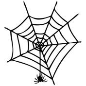 Spider Web - Animal Decal [12cm Black] Vinyl Sticker for Car, Ipad, Laptop, Helmet