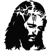 Jesus Christ Blood Save Life - Message Decal [12cm Black] Vinyl Sticker for Car, Ipad, Laptop, Helmet