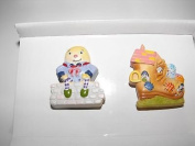 Kidsline Once Upon A Rhyme 2 DRAWER KNOBS Humpty Dumpty & OLd Lady in the Shoe