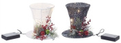 Small LED Top Hats, 2 Assorted