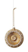 Glass Antique Gold & Light Silver Christmas Ornament GIFT BOXED!