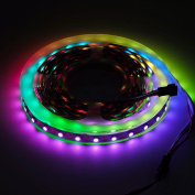 BTF-Lighting RGBW RGBNW Natural White SK6812 (Similar WS2812B) 16.4ft 5m 60leds/pixels/m Individually Addressable Flexible 4 colour in 1 LED Dream Colour LED Strip Non-waterproof DC5V