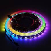 BTF-Lighting RGBW RGBWW Warm White SK6812 (Similar WS2812B) 13.1ft 4m 60leds/pixels/m Individually Addressable Flexible 4 colour in 1 LED Dream Colour LED Strip Non-waterproof DC5V