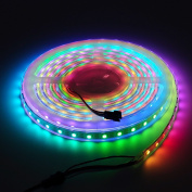 BTF-Lighting RGBW RGBCW White SK6812 (Similar WS2812B) 13.1ft 4m 60leds/pixels/m Individually Addressable Flexible 4 colour in 1 LED Dream Colour LED Strip Waterproof IP67 DC5V