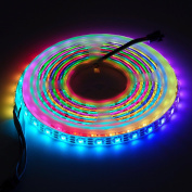 BTF-Lighting RGBW RGBNW Natural White SK6812 (Similar WS2812B) 13.1ft 4m 60leds/pixels/m Individually Addressable Flexible 4 colour in 1 LED Dream Colour LED Strip Waterproof IP65 DC5V