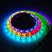 BTF-Lighting RGBW RGBCW White SK6812 (Similar WS2812B) 3.3ft 1m 60leds/pixels/m Individually Addressable Flexible 4 colour in 1 LED Dream Colour LED Strip Waterproof IP65 DC5V