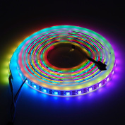 BTF-Lighting RGBW RGBWW Warm White SK6812 (Similar WS2812B) 16.4ft 5m 60leds/pixels/m Individually Addressable Flexible 4 colour in 1 LED Dream Colour LED Strip Waterproof IP65 DC5V