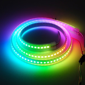 BTF-Lighting RGBW RGBWW Warm White SK6812 (Similar WS2812B) 3.3ft 1m 144leds/pixels/m Individually Addressable Flexible 4 colour in 1 LED Dream Colour LED Strip Waterproof IP67 DC5V
