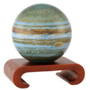 11cm Jupiter MOVA Globe with Arched Base in Natural Wood