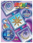 Sequin Art Seasons, Cosmic, Sparkling Arts and Crafts Picture Kit, Creative Crafts by Sequin Art